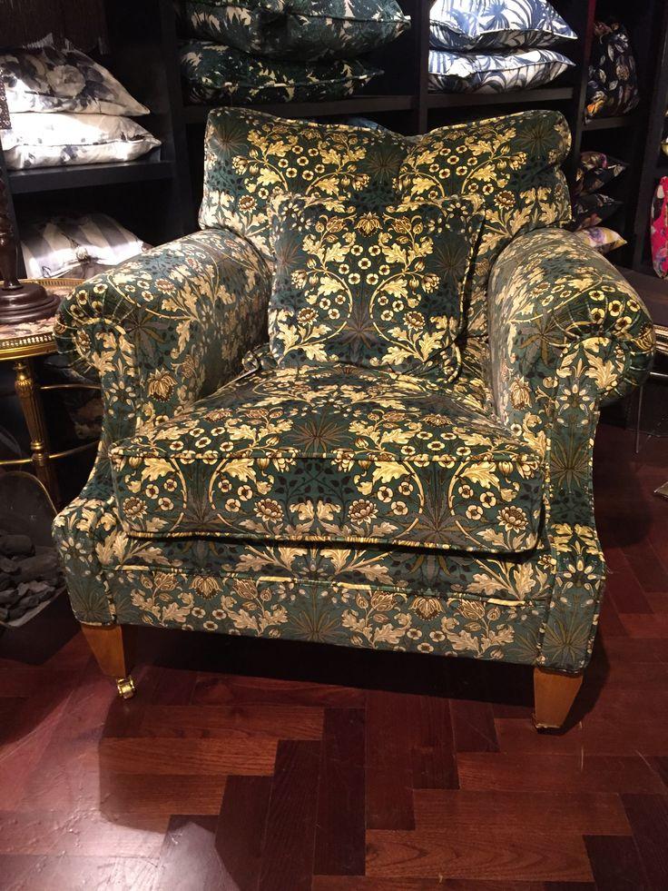 Traditional armchair in House of Hackney Hyacinth velvet