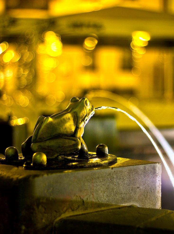Raftsman Fountain  Old Town Square, Torun, Poland