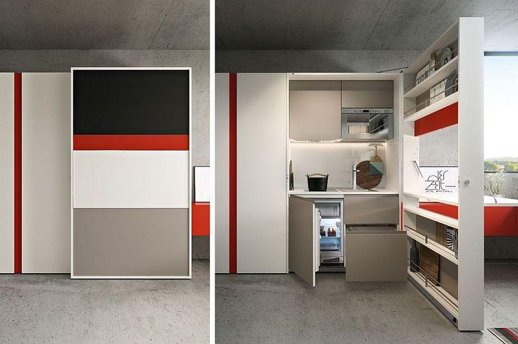 Ideale pentru spații mici! Bucătării ascunse în dulapuri, paturi mascate după canapea sau în masa de birou