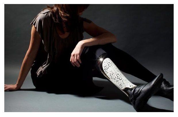 Custom Prosthetic leg by  Bespoke Innovations.