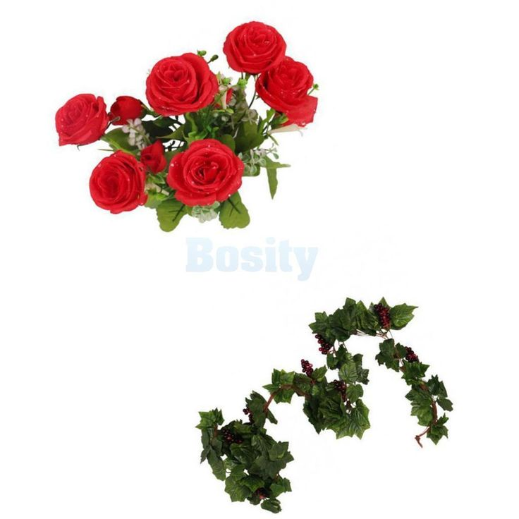 Artificial Silk Leaf Grape Vine Plant Silk Flower Rose Wedding Home Decor