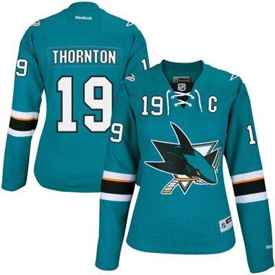 Womens Joe Thornton Reebok San Jose Sharks Teal Premier Player NHL Jersey #MyNHLWishListSweeps
