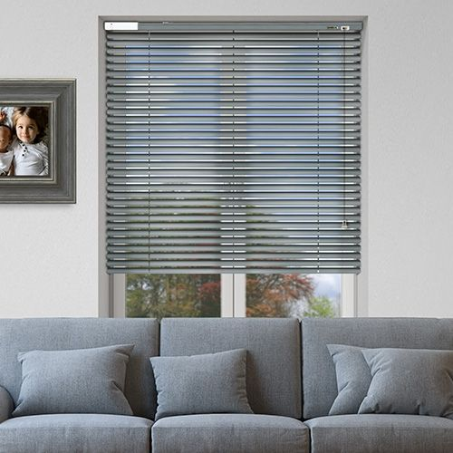Controliss 6V DC battery Powered (Tilt-Only) Soho Sky Brushed Venetian Blind