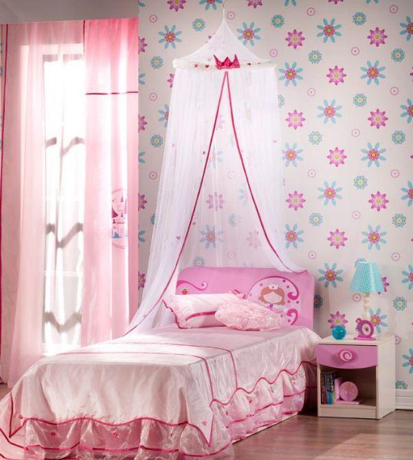 Gambar Desain Kamar Tidur Anak Perempuan Wallpaper Bunga