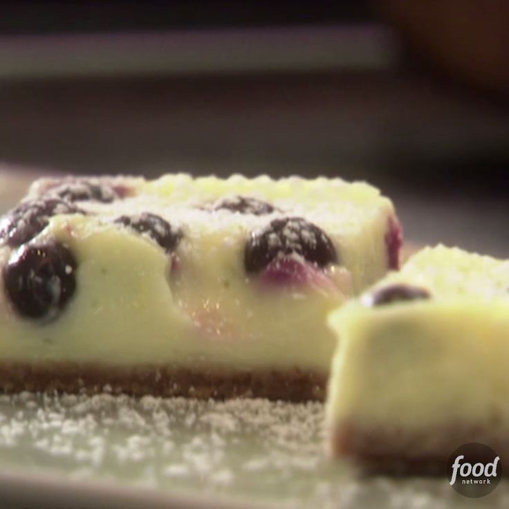 Tyler Florence transforms your favorite dessert into delicious on-the-go sweet treats. You have to try his bake-sale-worthy Lemon Blueberry Cheesecake Bars!