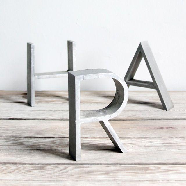 Concrete letters: