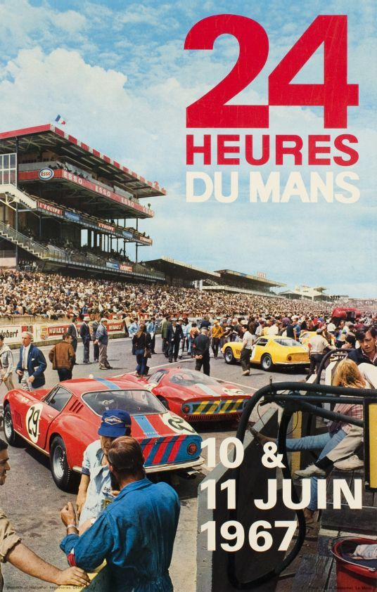 "Le Mans, 24h 1967 (by Delourmel Andre / 1967) ""24 hours of Le Mans, 1967 Worldchampionship""."