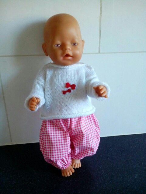 Truitje en broekje voor babyborn