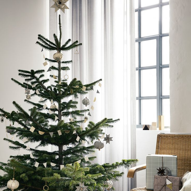 ferm LIVING Christbaumspitze Stern Paper Top Star Black Stripe online kaufen | Emil & Paula