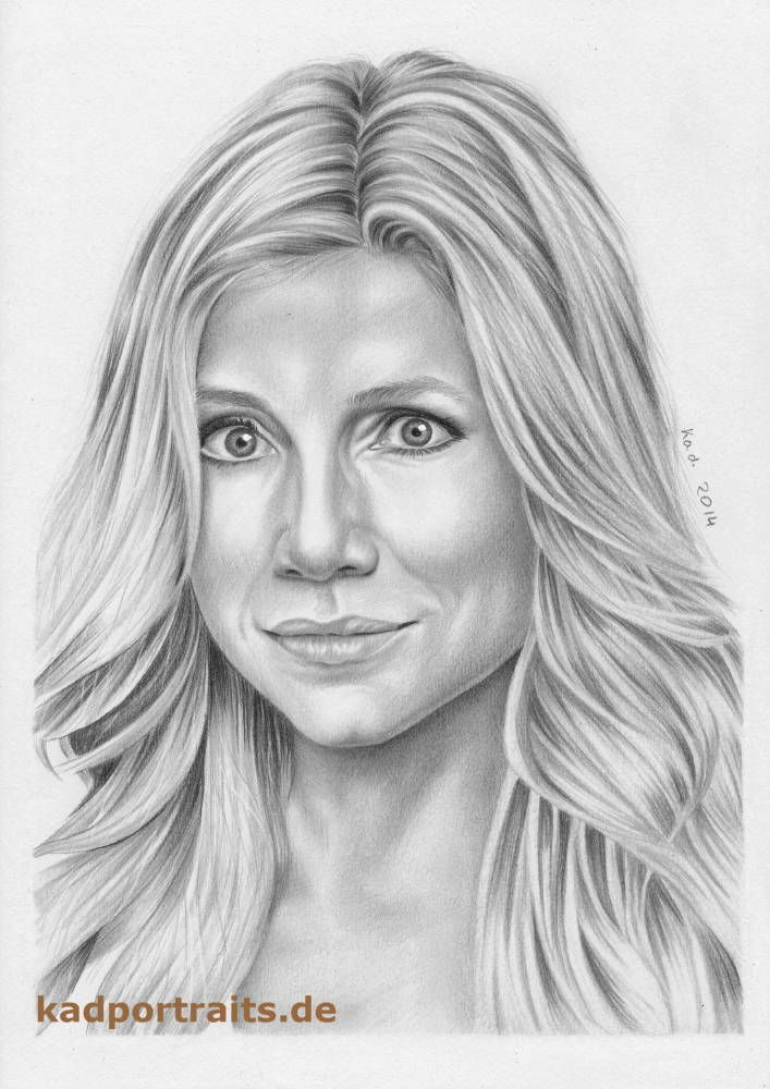 Sarah Chalke as Dr. Elliot Reid (Scrubs), graphite pencils ...