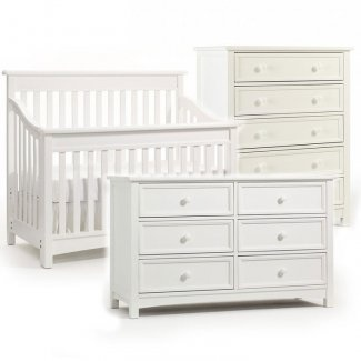 This Bonavita 3 Piece Set In Clic White Includes The Crib To Full Size Convertible