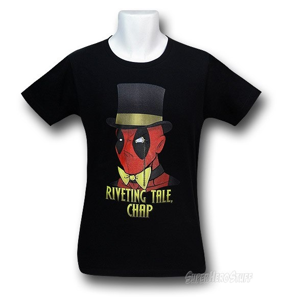 "Deadpool's ""Cool Story Bro"" shirt."