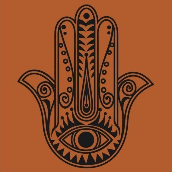 The hamsa is a palm-shaped amulet popular throughout the Middle East and North Africa. Depicting the open right hand, an image recognized and used as a sign of protection in many societies throughout history, the hamsa is believed to provide defense against the evil eye. The symbol predates Christianity and Islam. In Islam, it is also known as the hand of Fatima. Levantine Christians call it the hand of Mary, for the Virgin Mary. Jews refer to it as the hand of Miriam.