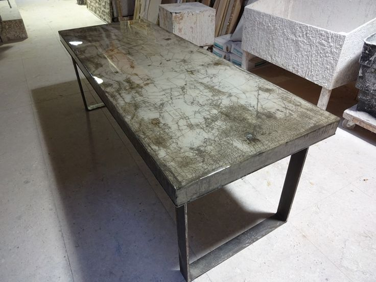 The 25 Best Concrete Dining Table Ideas On Pinterest Concrete Table Concrete Wood Bench And