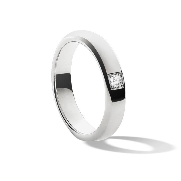 Обручальное кольцо Toujours Etoiles, платина, бриллиант