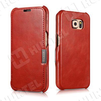 Etui, pokrowce, futerały Etui ICARER | Etui ze skóry Vintage Series do Samsung Galaxy S6 G920F czerwone | EKLIK - Sklep GSM, Akcesoria na tablet i telefon