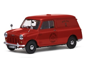 The Sunstar Morris Mini Van Royal Mail , is a diecast model car release from this superb diecast model car manufacturer, in 1/12th scale.    Just five months after the launch of the Mini saloons, BMC launched a van version under both the Austin and Morris brands in January 1960. Based on the saloon floorpan, the lengthening of the wheelbase by 4 inches plus the increased overhang at the rear resulted in an overall length of 129.875 inches, an increase of 9.5 inches. In front of the B-pillar…