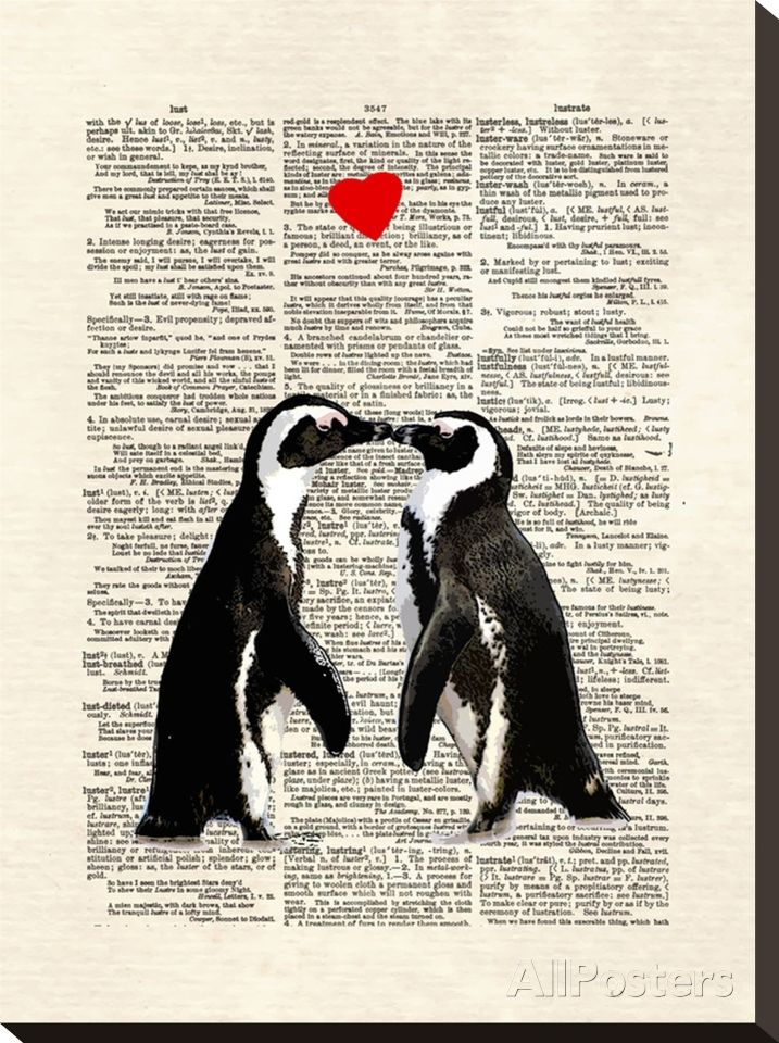 Penguin Lovers Stretched Canvas Print at AllPosters.com