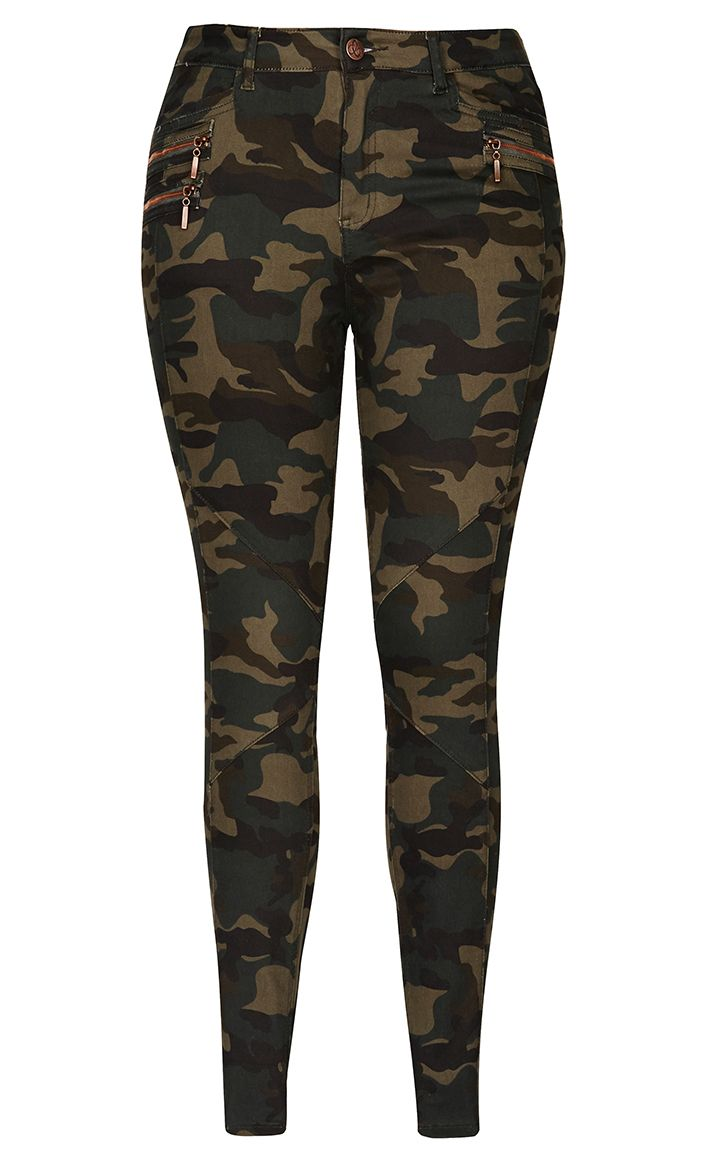 City Chic Camo Cadet Cargo Pant Women S Plus Size