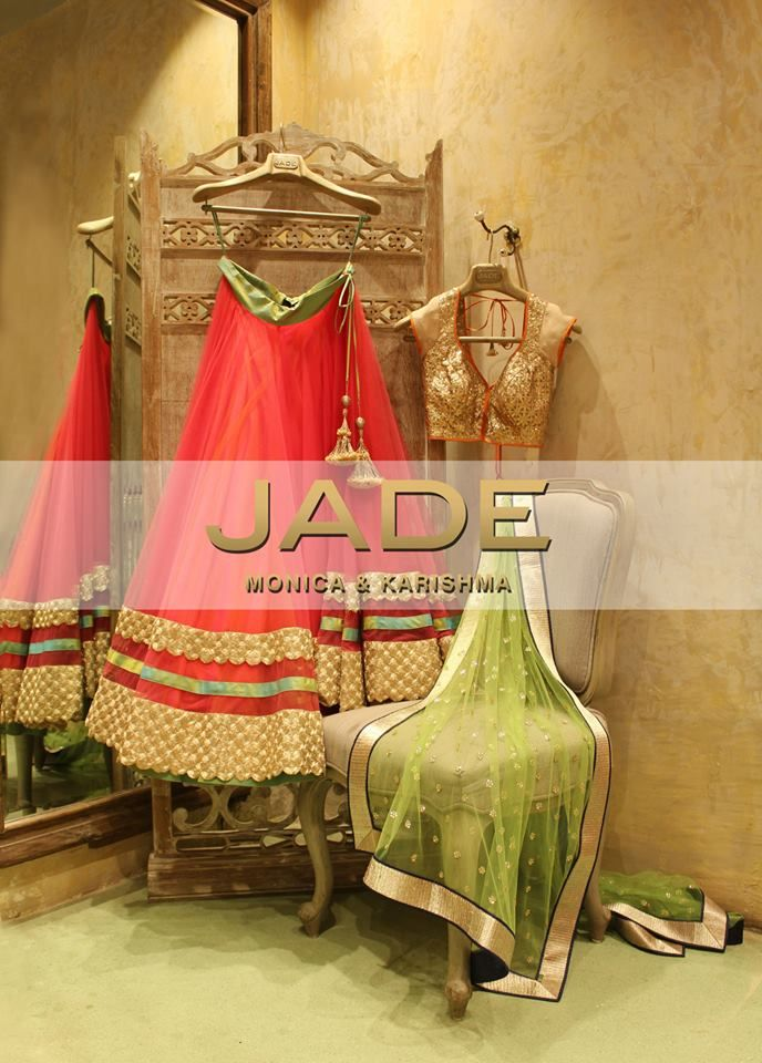 Refreshing and Unique, our Stunning JADE Ensemble will take Your breath away #JADEbyMK #India #Wedding #Bride