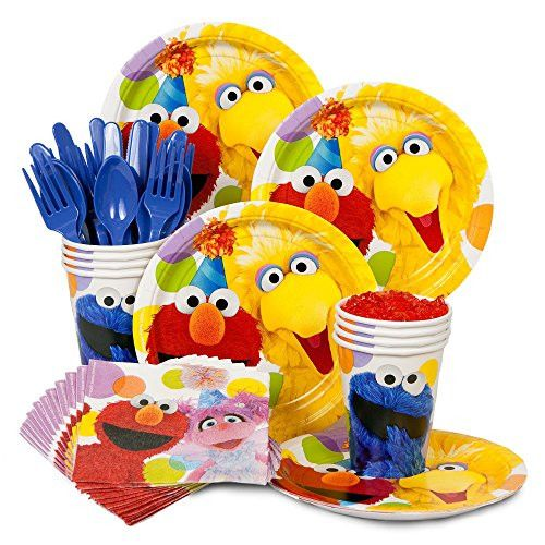 Sesame Street Birthday Party Supplies Standard Kit for 8