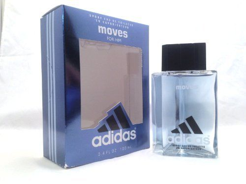 Adidas Moves by Coty - Eau De Toilette Spray 3.4 oz by adidas. $44.99. No worry 15 day return policy (see policy pages for details). Genuine, new, unopened products, we don't sell used, expired, knock offs or copies.. We combine S&H for further savings.. Appearance may vary (samples & testers come in sample vials). Orders over $100 get Free Shipping. Launched in 1999, Adidas Moves by the design house of Adidas received a prestigious FiFi award in 2000. This refr...