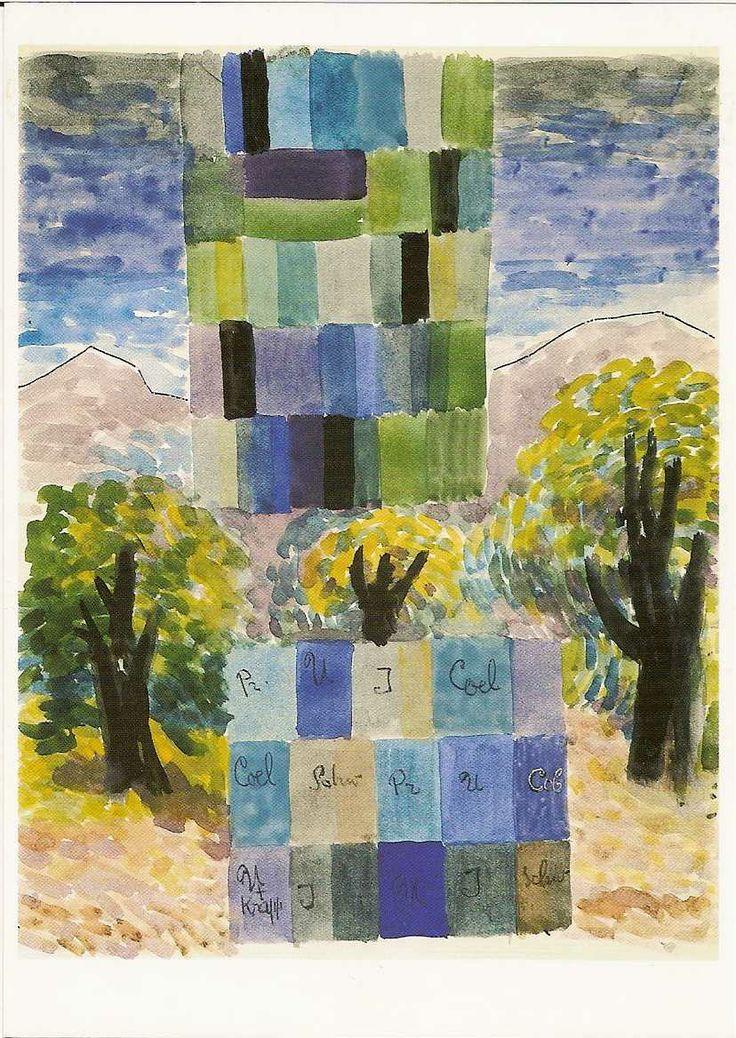 Johannes Itten 1888 1967 Farben Einer Landschaft 1946 Aquarell 34