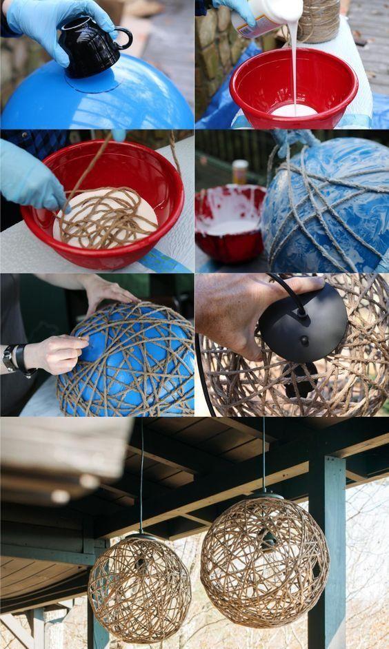 Crea tus propias lámparas ¡con materiales reciclables!