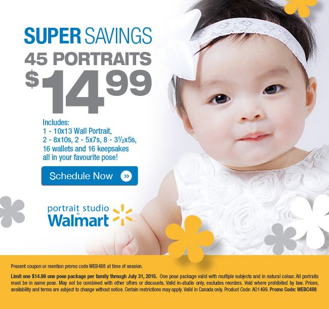 Get Easter Portraits at Super Savings with the Portrait Studio in Walmart! 45 Portraits for $14.99.