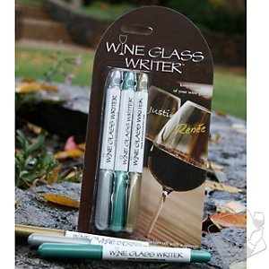 Great idea - use this pen to write names on wine glasses for guests...wipes off easily and great way to avoid using wine tags!! We just ordered and can't wait to use :)