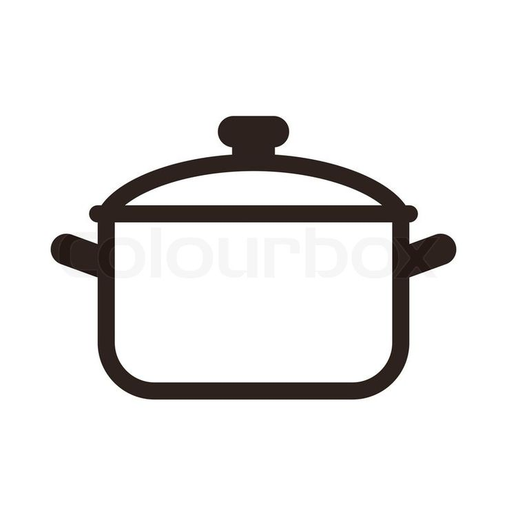Cooking pot symbol isolated on white background | Vector | Colourbox
