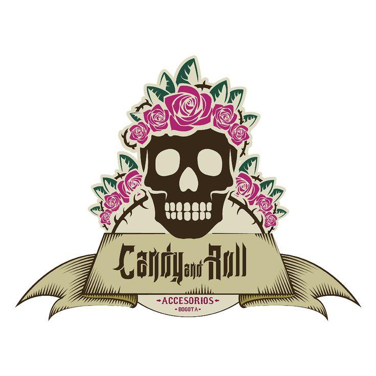 Logo realizado para la firma de moda #CandyAndRoll. Diseñado por la agencia de publicidad Laboratorio Grafico Bogotá.