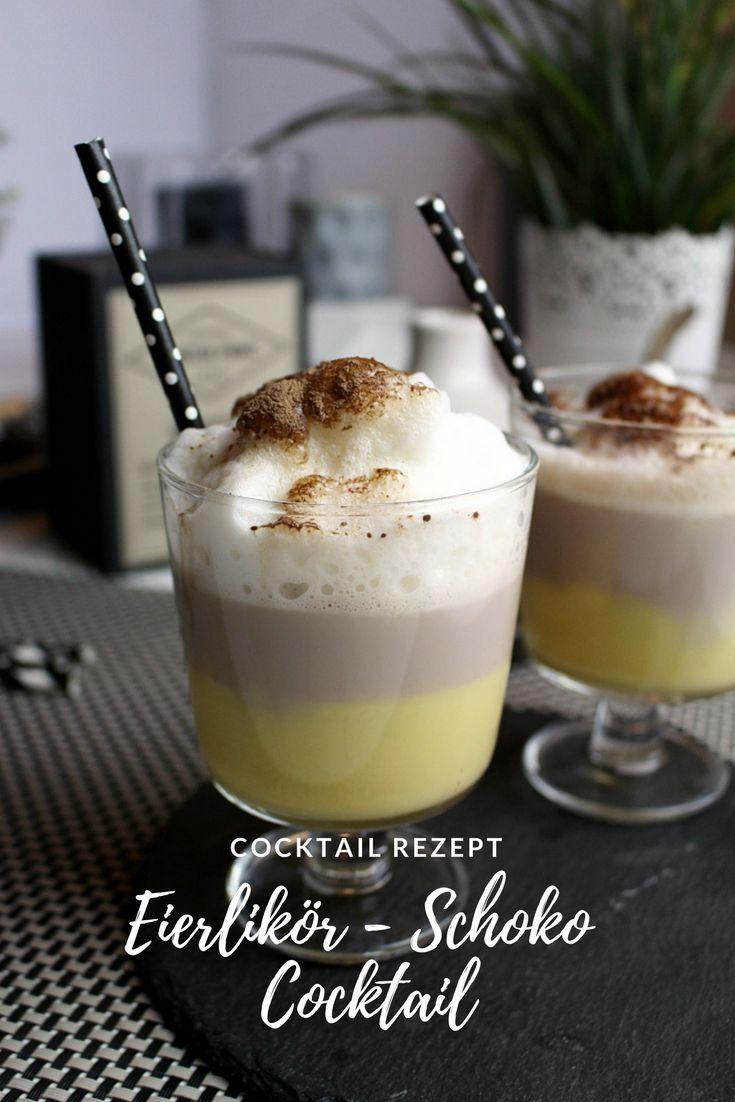 Rezept: Eierlikör - Schoko - Cocktail  Ein schöner Cocktail perfekt für die kühle Jahreszeit. Ihr benötigt nur Eierlikör, Milch und Kakao.