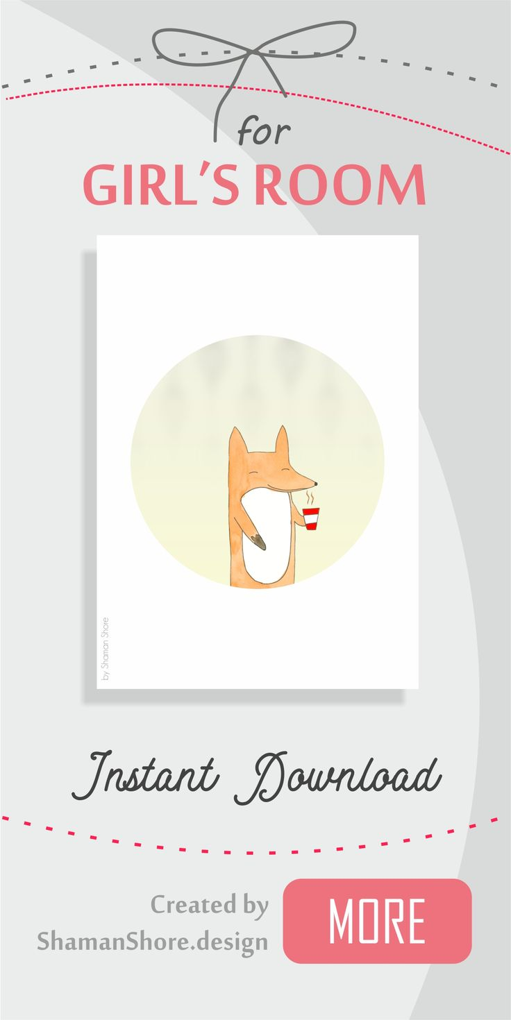 Fox Décor Nursery, Girl's Room Printable Fox Baby Art Print, Funny Fox Décor, Nursery Print, Kids Room Décor Fox Wall Art Digital Download, Zorro Decoracion, Cuarto de Niños Decorados