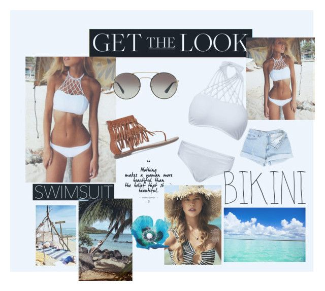 """""""Get The Look - Bikini Babe"""" by loralincon ❤ liked on Polyvore featuring Prada, Sam Edelman, GetTheLook and Swimsuits"""