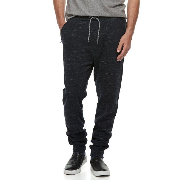 Men's Hollywood Jeans Fleece Jogger Pants, Size: Medium, Blue (Navy)