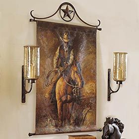 King Ranch   COWBOY HANGING CANVAS ART