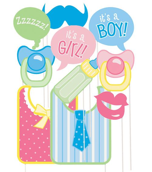 "Photobooth-Set ""Baby Accessoires"" - 10-teilig 