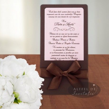 Invitatii nunta de vis maro