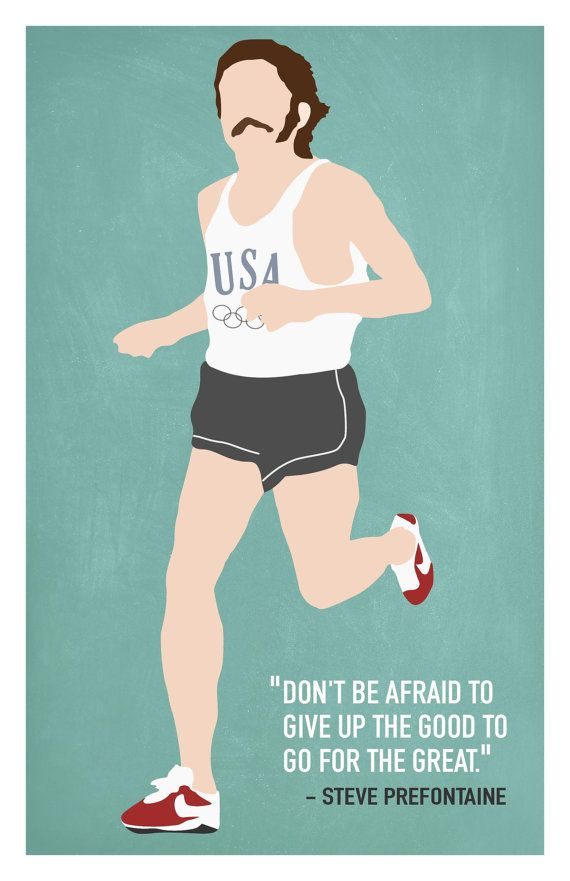 Steve Prefontaine Print by DeanfredRexPrints on Etsy