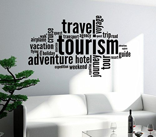 Wall stickers vinyl decal tourism travel adventure quote words inspire message z1349i 22 5 in by
