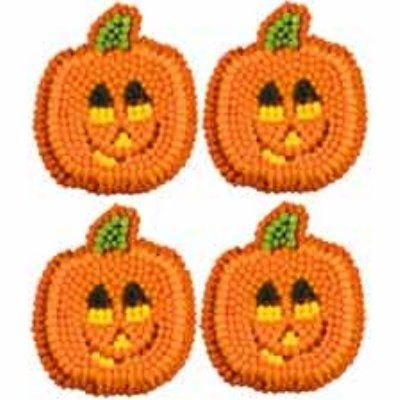 Wilton Smiling Pumpkins Icing Decorations bakeware essentials - wilton halloween cupcake decorations