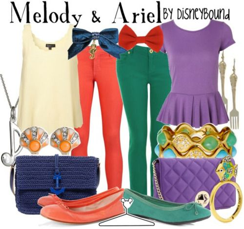 Mother's Day outfits inspired by Ariel and her daughter, Melody.