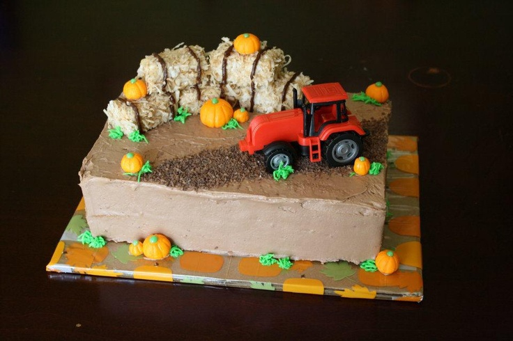 Tractor Fall Birthday cake