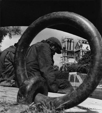 Albert Monier  Sous les ponts de Paris (Le vieux chalet; 2 works), 1950–1959