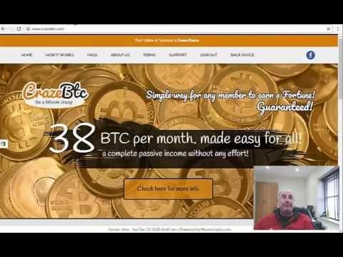 # 38 BTC CrazeBTC*How to increase 0,01BTC to 38BTC ($ 27,000) per month !!!