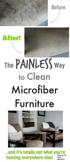 The painless way to clean microfiber furniture
