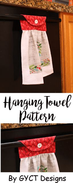 Hanging towels are a great gift and the perfect way to keep your towel from disappearing