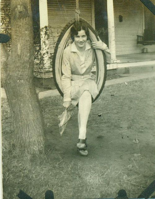 Tire swing - c. 1920s - (Via)  Check out the WV DEP REAP site for Tire Collection Events. YES, some tires they get are this old...   http://www.dep.wv.gov/dlr/reap/tires/Pages/default.aspx