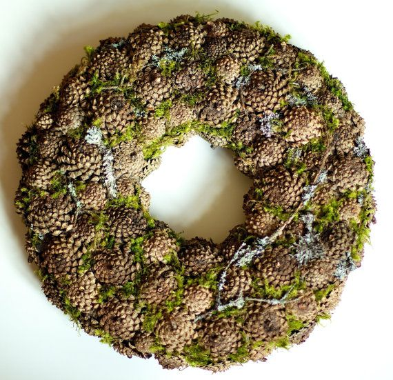 Winter Wreath  Christmas Wreath  Home by CadeauDeLaNature on Etsy, $40.00